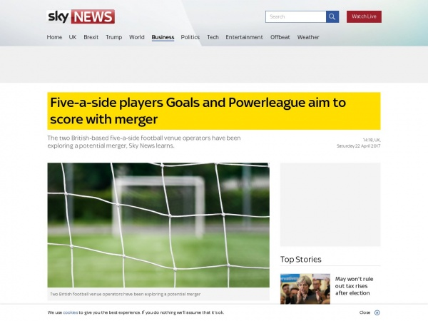 https://news.sky.com/story/five-a-side-players-goals-and-powerleague-aim-to-score-with-merger-10846373